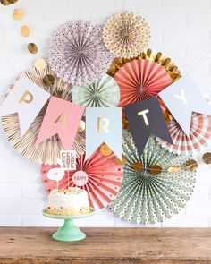 17 Cool And Simple Summer Party Ideas Impress Your guests - 2020 Baby Party, I Party, Party Time, Paper Fan Decorations, Birthday Decorations, Happy Birthday, Birthday Parties, 50th Birthday, Paper Fans