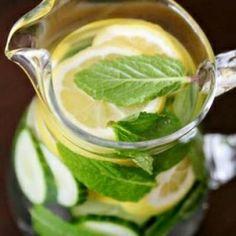 檸檬 + 青瓜 + 薄荷 + 蘋果醋