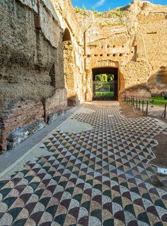 Floor Mosaic Baths of Caracalla - Wide angle picture of beautiful mosaic floor of the Baths of Caracalla Rome Italy Completed in 235 CE Ancient Ruins, Ancient Rome, Ancient History, European History, Ancient Artifacts, Machu Picchu, Angle Pictures, History Encyclopedia, Art History
