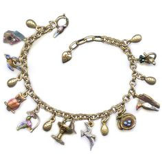 @Overstock - Springtime is announced with this amazing bracelet from Sweet Romance featuring tiny 3-D bird sculptures. In the center, a nightingale enjoys a bird bath, to his right is a woodpecker at work, a nest of robin's eggs and a seagull in flight.http://www.overstock.com/Jewelry-Watches/Sweet-Romance-Little-Birds-Charm-Bracelet/7471841/product.html?CID=214117 $42.49
