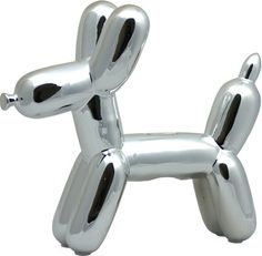 Made by Humans 2 Designs Doggie Money Bank Silver