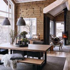 scandinavian cabin in the woods wood paneled modern chalet log home woods modern and cabin scandinavian wood cabins Chalet Interior, Interior Design, Modern Cabin Interior, Modern Cabin Decor, Modern Log Cabins, Brown Interior, Modern Rustic, Ideas Cabaña, Room Ideas