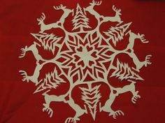 Free Reindeer Paper Snowflake Tutorial