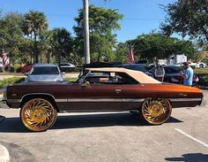 Made by · · · · mean ass 75 donk . Fancy Cars, Retro Cars, Custom Trucks, Custom Cars, Candy Paint Cars, Donk Cars, Trick Riding, Chevy Muscle Cars, Cadillac Fleetwood