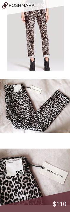 Rag & Bone Leopard Jean NWT ✨ Rag & Bone Leopard Skinny Jean - Soft & flattering fit - Statement piece - Retails for $385 ⚜ Size 26 rag & bone Jeans