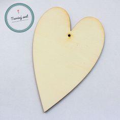 Drevené srdce 10 x 18 cm