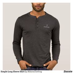 Simple Long Sleeve Shirt - Heavyweight Pre-Shrunk Shirts By Talented Fashion & Graphic Designers - #sweatshirts #shirts #mensfashion #apparel #shopping #bargain #sale #outfit #stylish #cool #graphicdesign #trendy #fashion #design #fashiondesign #designer #fashiondesigner #style