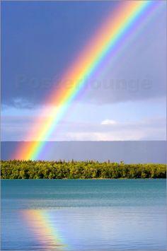 """Bild von Jerry Ginsberg - """"Regenbogen am See Naknek"""""""