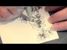 Cloudtangle教學畫@Zentangle禪繞畫 How to draw FLUX 如何畫FLUX流動 0709 - YouTube