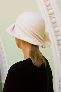 Шляпы ручной работы. Шляпа клош белый. Наталия Эдис. Ярмарка Мастеров. Шляпа с полями, ретро, итальянский