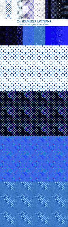 Seamless Pattern on Behance Waves Background, Geometric Background, Background Patterns, Square Patterns, Color Patterns, Vector Pattern, Pattern Design, Blue Square, Circle Pattern