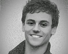 Male Art Gay Art: Gay Icon and Olympic Gold diver Tom Daley - drawing.  #gay #handsome #tomdaley #drawing