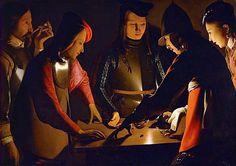 Les joueurs de dés, vers 1640, Georges de la Tour, (Stockton-on-Tees, Preston Hall Museum)