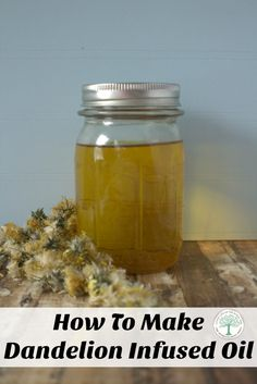 Make a dandelion infused oil for salves, lotions, balms, soaps and more! The Homesteading Hippy via @homesteadhippy
