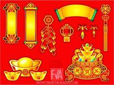 #ChineseNewYear #decoration #vector #graphics - Free Vector Art