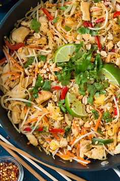 Chicken Pad Thai | Cooking Classy Around 470 cals per portion, with changes