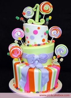 First Birthday Candy Cake http://media-cache6.pinterest.com/upload/142144931958483672_eilAdo1Z_f.jpg pinkcakebox children s cakes