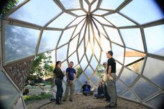 The Algarden Greenhouse Zome - look at this geometry!!! by BASE