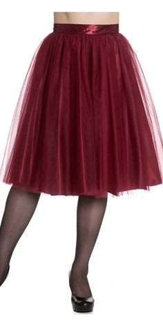 Hell Bunny Ballerina Skirt in Red 1