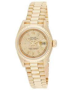 Michael Kors Gold Steel Bracelet & Case Mineral Women's Watch - Authentic Watches UK Amazing Watches, Cool Watches, Rolex Women, Authentic Watches, Elegant Watches, Boutique, Michael Kors Watch, Gold Watch, Bracelet Watch