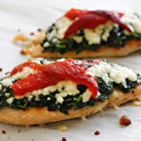 Grilled Chicken with Spinach and Melted Mozzarella by Skinny Taste