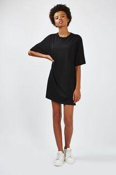 Black - Boyfriend Tee Tunic - Dresses - Clothing