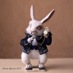 "The white rabbit from ""Alice in Wonderla by By Zhila Irina | Bear Pile"