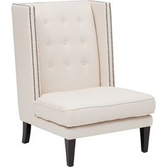 Jefferson Chair* $675  Shown in:Snow Cream  Material detail:80% Cotton, 20% Poly  Leg Finish:Espresso  Dimensions:29w 34d 42h  Seat Depth:23d  Seat Height:17.5h