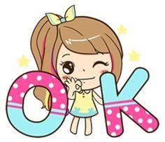 Cute Couple Cartoon, Cute Love Cartoons, Cute Cartoon Girl, Emoji Stickers, Cute Stickers, Agnes Despicable Me, Happy Birthday Pictures, Cartoon Gifs, Line Sticker