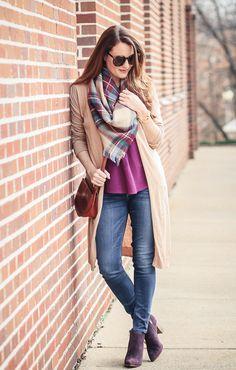 548293d422e Blanket Scarf Outfit Idea - Peaches In A Pod Blog