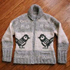 andifitz's chickadee cowichan, We grew up in these sweaters, but called them Siwash sweaters. Mom actually spun the wool herself. Knitting For Kids, Knitting Projects, Baby Knitting, Knitting Patterns, Cool Sweaters, Baby Sweaters, Vintage Sweaters, Cowichan Sweater, Knit Or Crochet