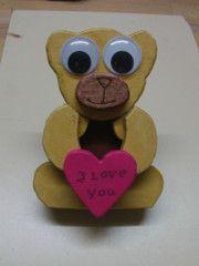 #iloveyou - eine süße #Botschaft vom #Bärchen #höchstpersönlich übermittelt - wer freut sich nicht über ein #DIY #Geschenk?