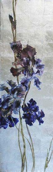 CLAIRE BASLER.  Huile sur toile  Format : 2 x 200 x 65 cm