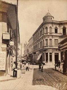 Álbum Fotografias de São Paulo 1900 - Rua Direita Gaensly, Guilherme (1898)
