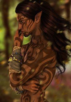 Rizoel (Ember's half-sibling who is Half-Elf / Half-Angel) - Result of the Curse stemming from the forbidden love between Ember's angelic parents (Drenkiel & Aerialon)
