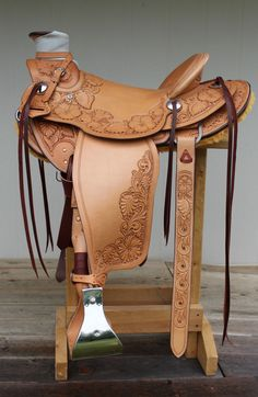 "Western Roping Saddle, Custom Made, Wade Tree, 15.5"", Hermann Oak Leather, NWOT #IronCreekLeatherworks"