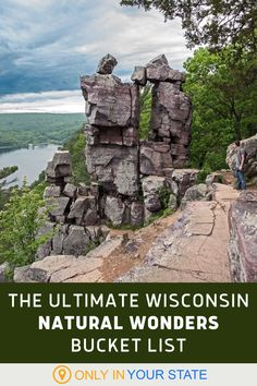 Add these beautiful Wisconsin natural wonders to your travel bucket list! Explore lakes, waterfalls, state parks, and other amazing outdoor destinations. Wisconsin Vacation, Lake Michigan, Park Pictures, Natural Bridge, County Park, Cool Places To Visit, Places To Travel, Natural Wonders, Best Bucket List