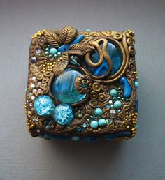 polymer clay art noveau