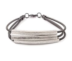 Mia Bracelet in Silver on Jet on Emma Stine Limited