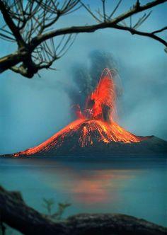 Erupción del Krakatoa.