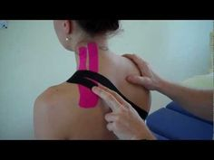 ▶ How to treat Neck pain - Levator Scapulae / Upper Trapezius Strain using Kinesiology Tape - YouTube