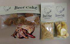 Beef Cake / Fruit Fiber / Banana Corn Hermit Crab by Crabotanicals
