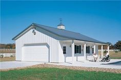 From basic to bold, Morton Buildings builds the finest pole barns, equestrian buildings, steel buildings and more. Poll Barn House, Pole Barn House Plans, Garage Plans, Shop Buildings, Metal Buildings, Storage Buildings, Metal Shop Building, Building A House, Building Ideas