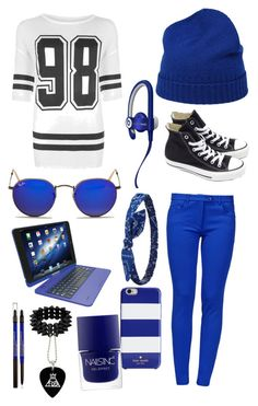 """""""Black and blue"""" by shev-1 ❤ liked on Polyvore"""