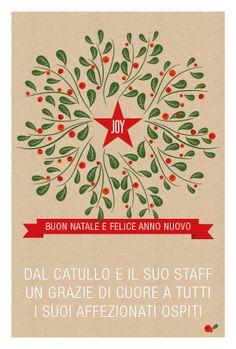 Pranzo di Natale al Catullo Menu compelto da 50€ a persona (bambini 25€)  Aperitivo di benvenuto Bis di antipasti  Bis di primi Secondo a scelta Dolce, Frutta secca, moscato Caffè e mirto/limoncello acqua e vino 'Catullo' (1bott. ogni 3 persone)  Info e prenotazioni: info@ristorantecatullo.com  011.6618336