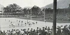 Newlands Rugby Stadium -  most men came with a hat on!