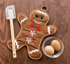 Gingerbread Man Pot Holder