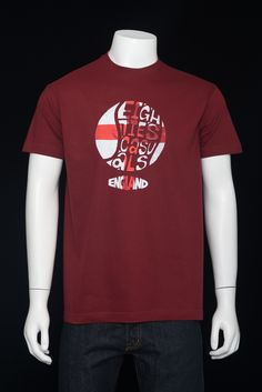80s Casuals England Wrote For Luck - Chilli Red | Distant Echo