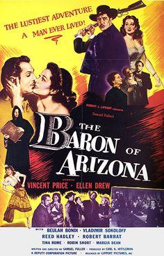 The Baron Of Arizona (1950) - Vincent Price, Ellen Drew, Beulah Bondi #MovieTheBaronOfArizona1950