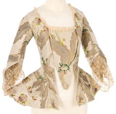 Another large, metallic woven textile, early jacket 1720s-40s?